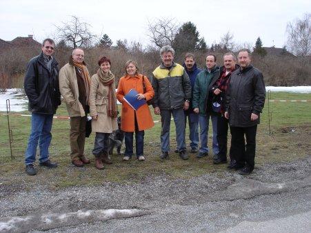 VBMin A. Enzinger und Mitarbeiter wie Gemeindevertreter