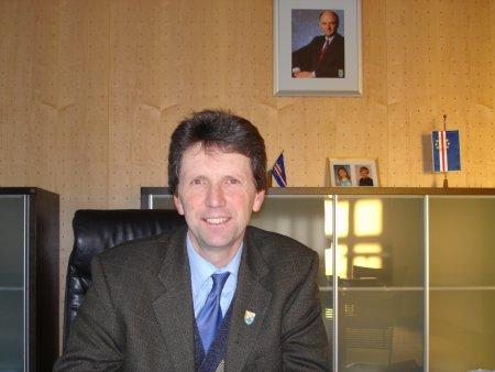 F. Quirgst, seit 1 Jahr Buergermeister von Deutsch Wagram